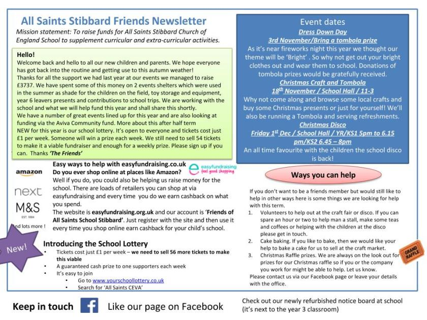 Friends Newsletter September 2017